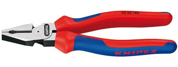 Knipex 0202180 High Leverage Combination Pliers black atramentized 180 mm