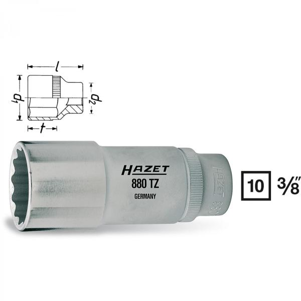 Hazet 880TZ-17 12-point socket