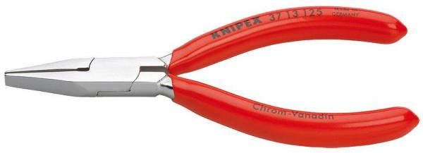 Knipex 3713125 Flat Nose Pliers for precision mechanics chrome plated plastic coated 125 mm