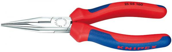 Knipex 2505160 Snipe Nose Side Cutting Pliers chrome plated 160 mm