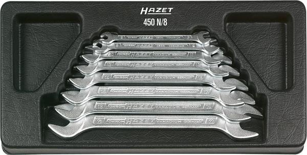 Hazet 450N/8 Double Open-End Wrench Set · outside hexagon