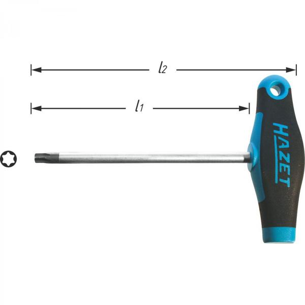 Hazet 828-T45® TORX Screwdriver with T-Handle