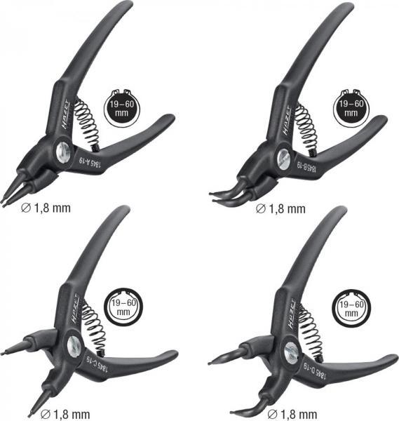Hazet 1845/4 Circlip Pliers Set for i/o Lockrings