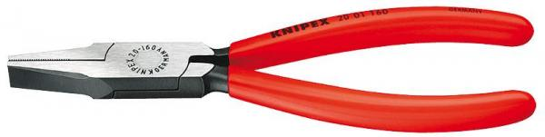 Knipex 2001160 Flat Nose Pliers black atramentized plastic coated 160 mm