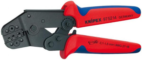 Knipex 975214 Crimping Pliers short design burnished with multi-component grips 195 mm